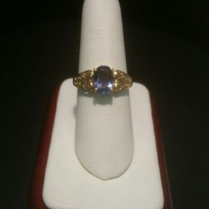 10K Ladies Iolite Ring