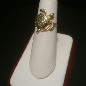 14K Yellow Gold Turtle Ring 04-148EJ