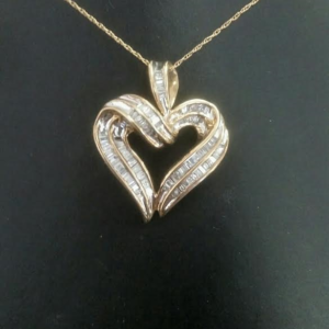Pendants chains rainbow jewelers llc 10 karat yellow gold with 1 carat of diamonds total weight item no 09 001ej mozeypictures Gallery