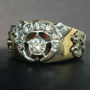 Shriner/Masonic Diamond Ring 14K Yellow Gold