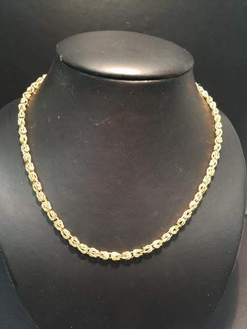 "14k Yellow Gold 18"" Square Super Chain"